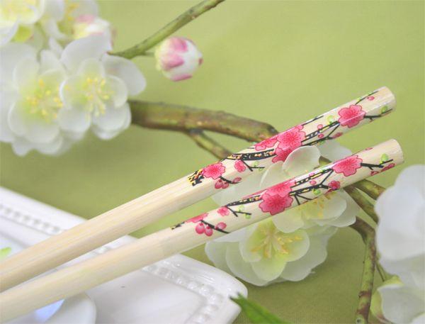100 Cherry Blossom Chopstick Wedding Favors Asian Theme