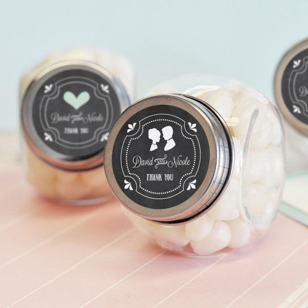 200 Personalized Custom Chalkboard Chalk Wedding Candy Jars Party Favors EBay