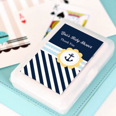 Nautical Baby Shower Personalized Playing Cards