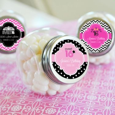 Personalized Sweet 16 Or 15 Candy Jars