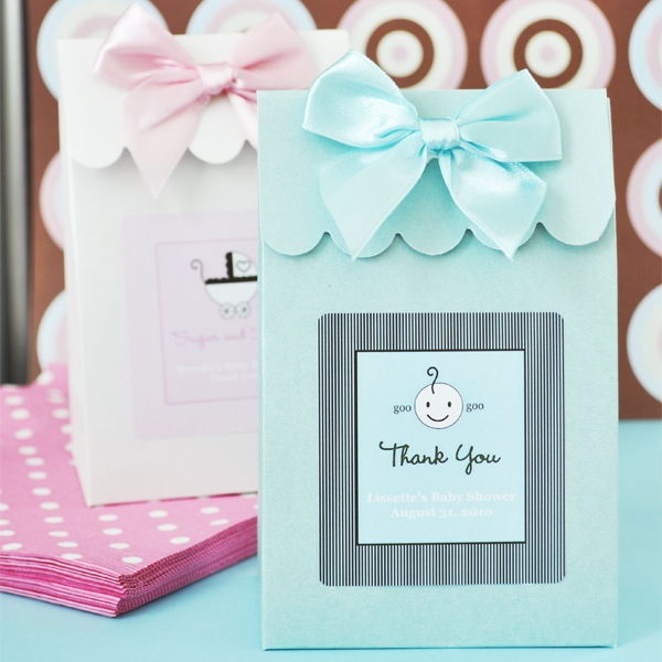 personalized custom baby shower candy buffet pary favor bag box boxes