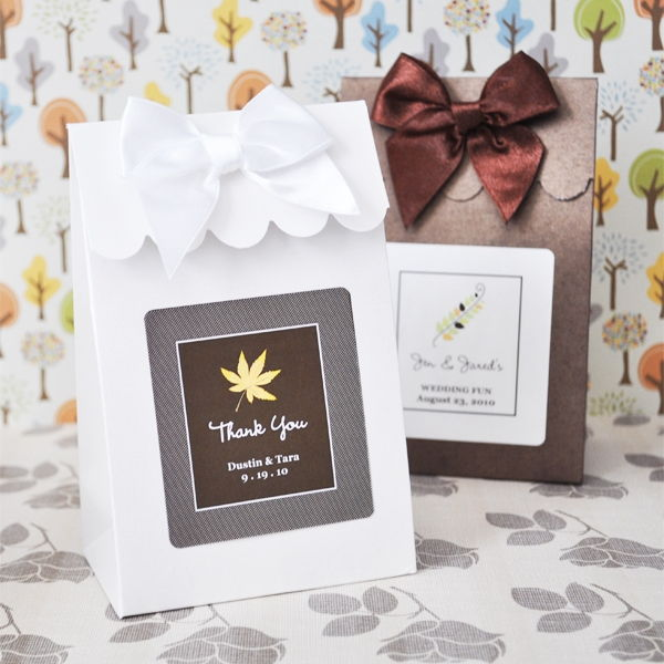 Wedding Favor Bags Or Boxes : ... Fall Autumn Wedding Bridal Shower Candy Buffet Favor Bag Box eBay