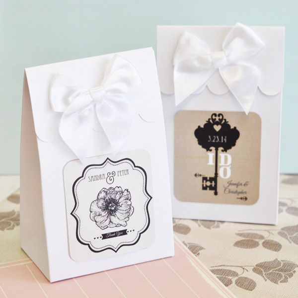 Wedding Gift Bags Boxes : ... Custom Vintage Wedding Bridal Shower Candy Buffet Favor Bag Box eBay