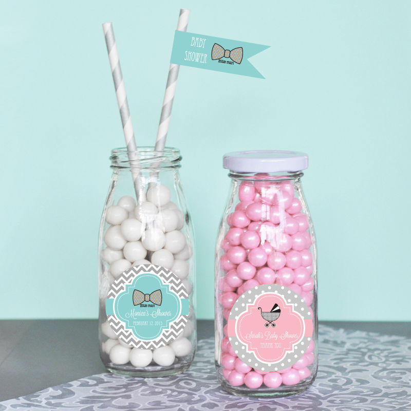 party favors by event blossom personalized baby shower milk bottles