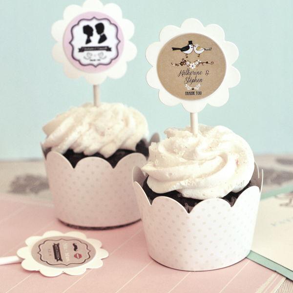 24-Vintage-Wedding-Bridal-Shower-Party-Favor-Cupcake-Wrapper-Baking-Cup-Topper