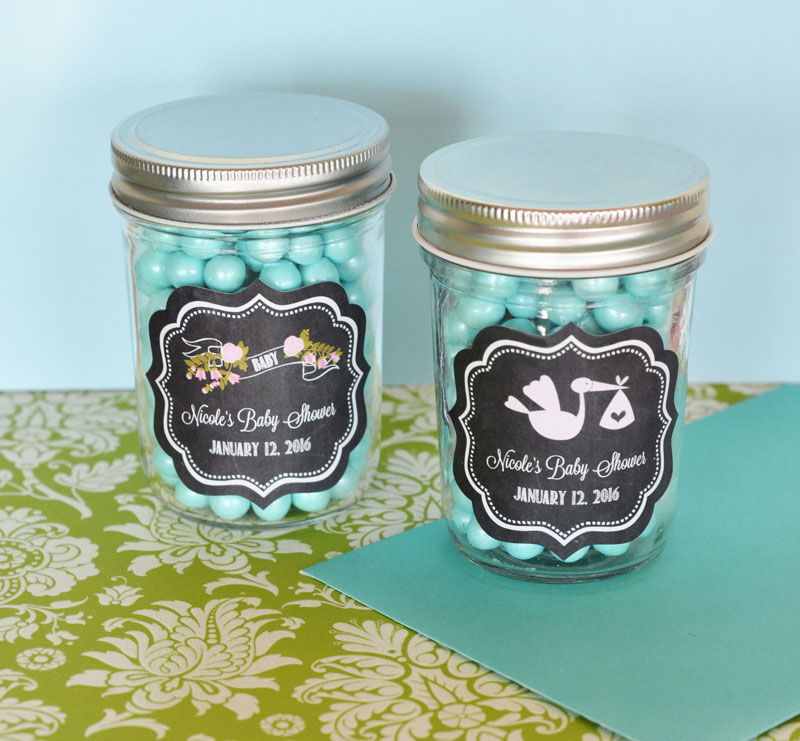 by event blossom chalkboard baby shower personalized mini mason jars