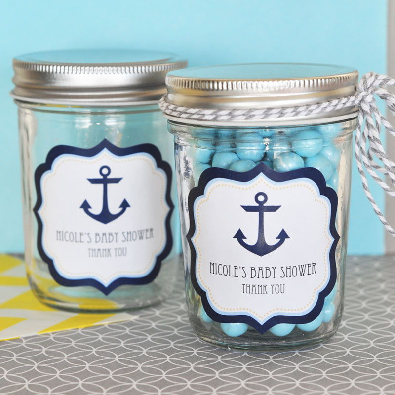 by event blossom nautical baby shower personalized mini mason jars