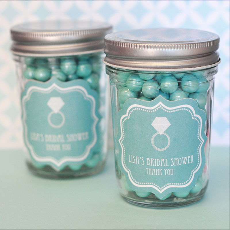 wholesale wedding favors party favors by event blossom something blue personalized mini mason jars. Black Bedroom Furniture Sets. Home Design Ideas
