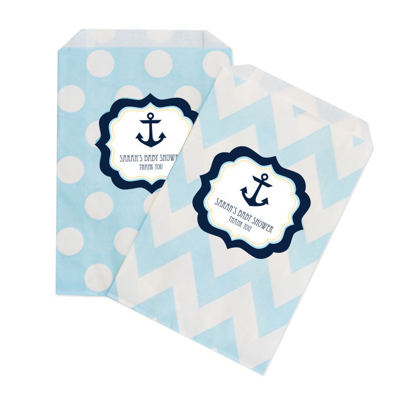 nautical baby shower chevron dots goodie bags set of 12 by event