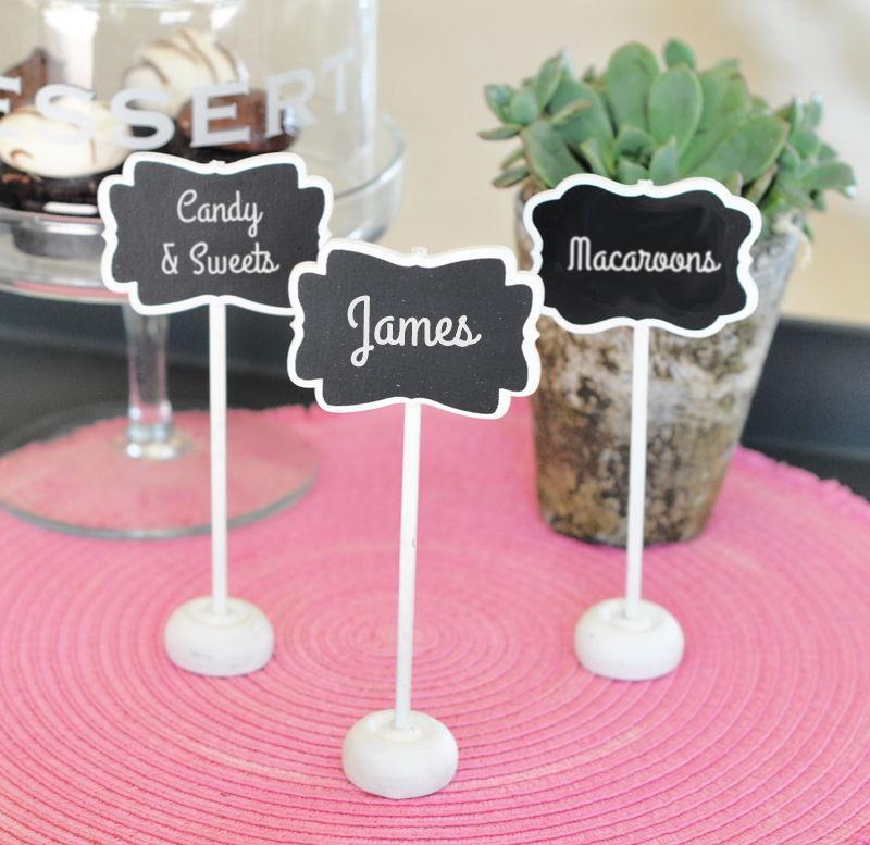 120 framed chalkboard place card stands wedding favors