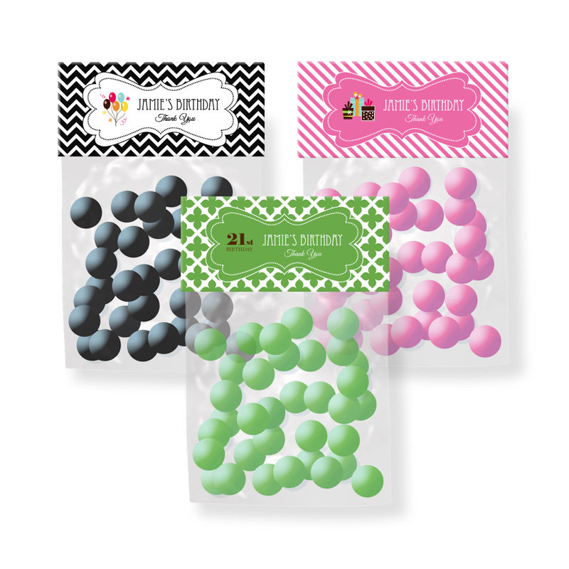 ... birthday candy bag toppers personalized birthday candy bag toppers