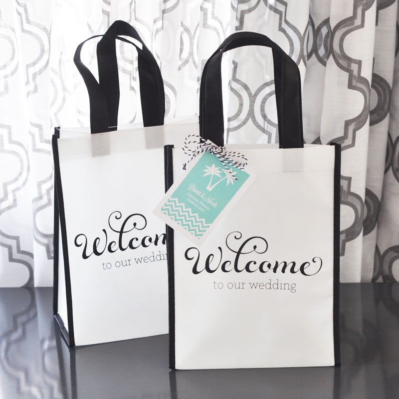 Wedding Guest Gift Bags Uk : Details about 24 Welcome to Our Wedding Party Favor Treat Guest Bags