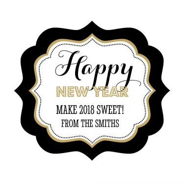 personalized new years eve party frame labels