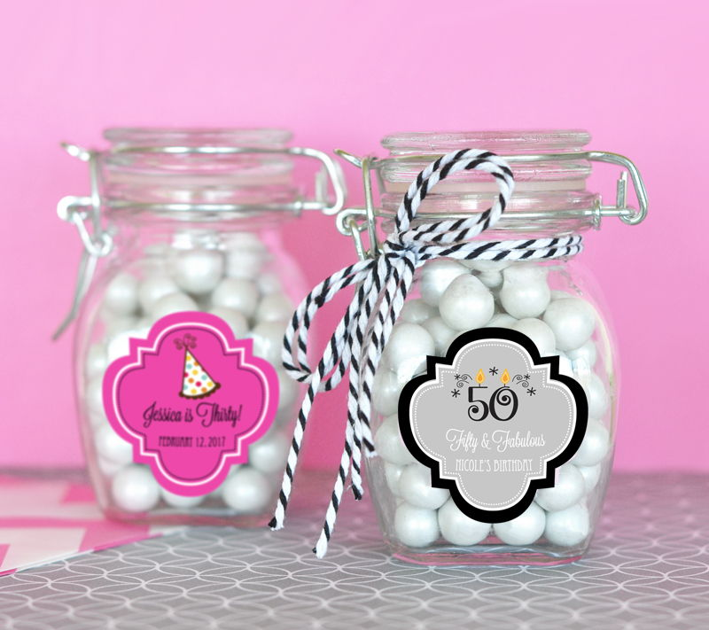Wholesale Wedding Favors Party By Event Blossom Personalized Birthday Glass Jar With Swing Top Lid