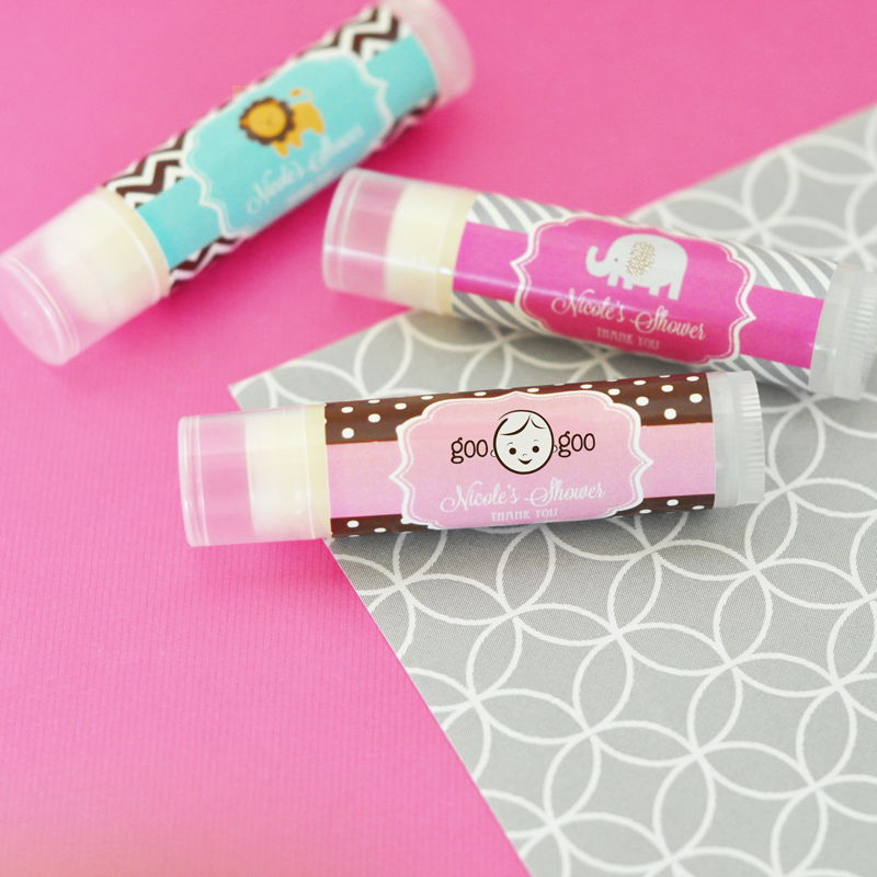 Wholesale wedding favors party favors by event blossom wholesale wedding favors party favors by event blossom personalized baby shower lip balm tubes negle Choice Image