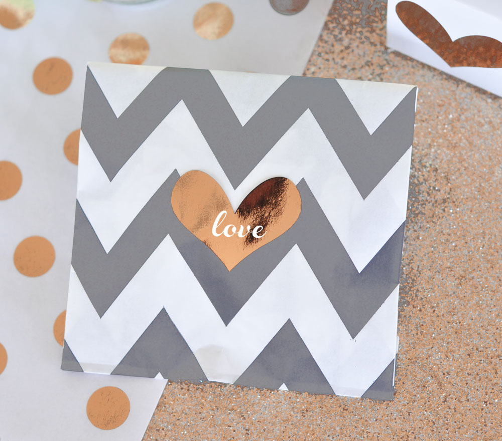 Personalized Metallic Foil Gold & Silver Foil Heart Stickers from-HotRef