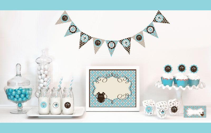 Blue Baby Shower Decorations Starter Kit