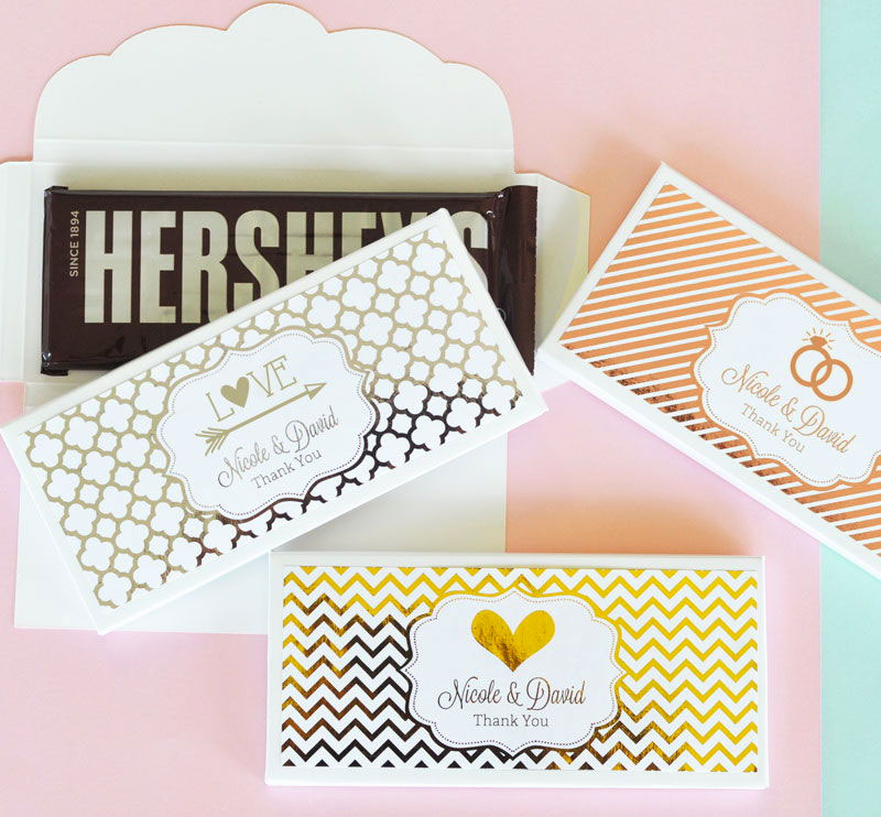 Personalized Metallic Foil Candy Wrapper Covers from HotRef