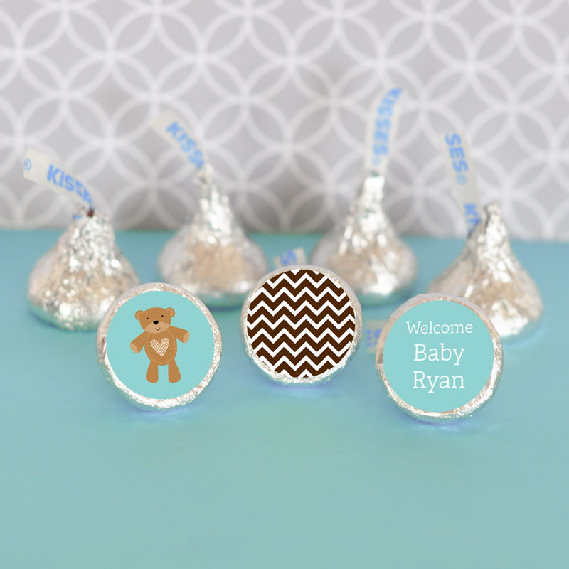 Baby Shower Stickers For Hershey Kisses ~ Personalized baby shower hershey kiss candy wrapper