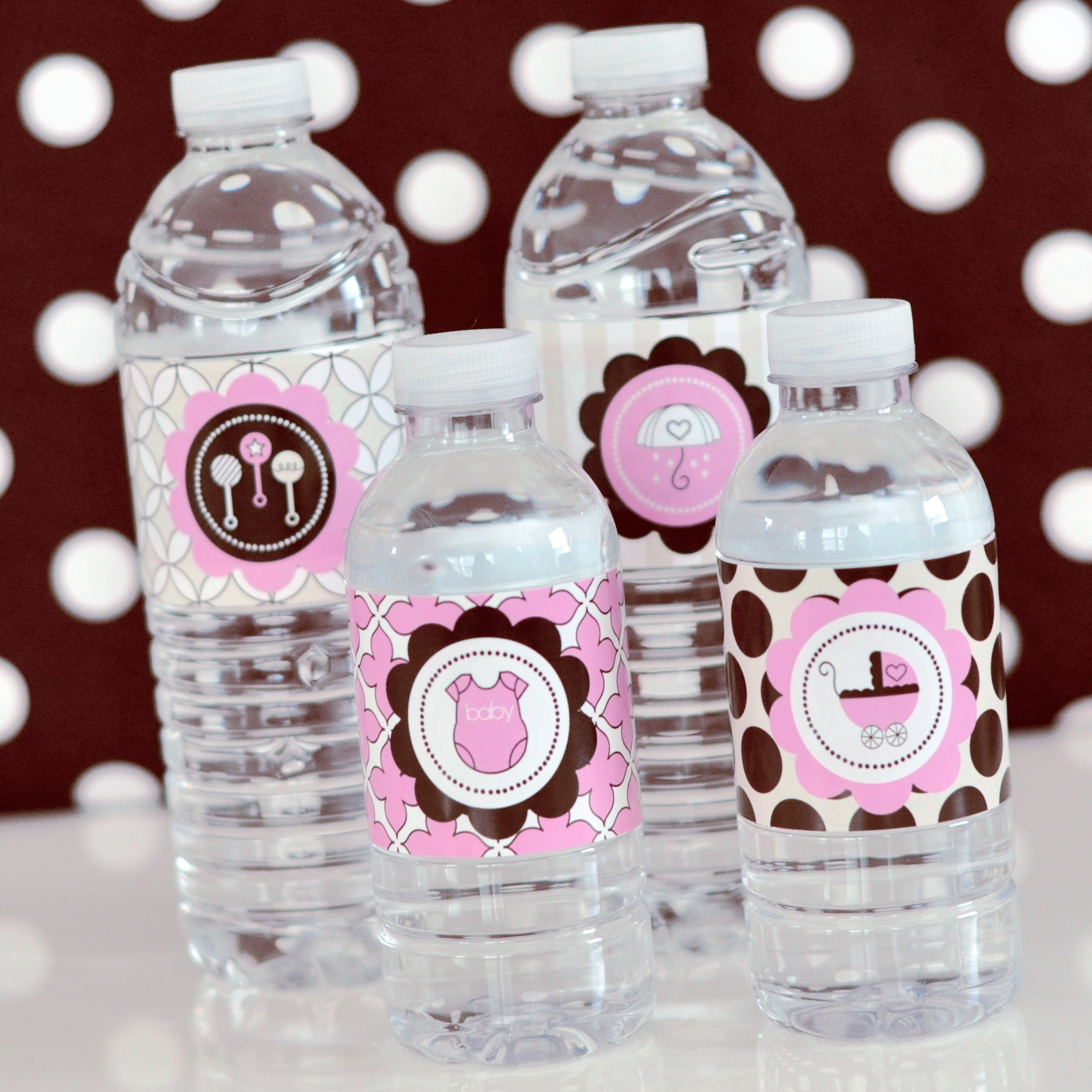 ... Water Bottle Labels ...  Free Baby Shower Label Templates