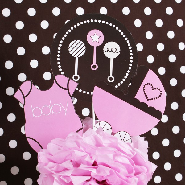 Wedding Shower Theme Pink Mod Party Decorations Kit