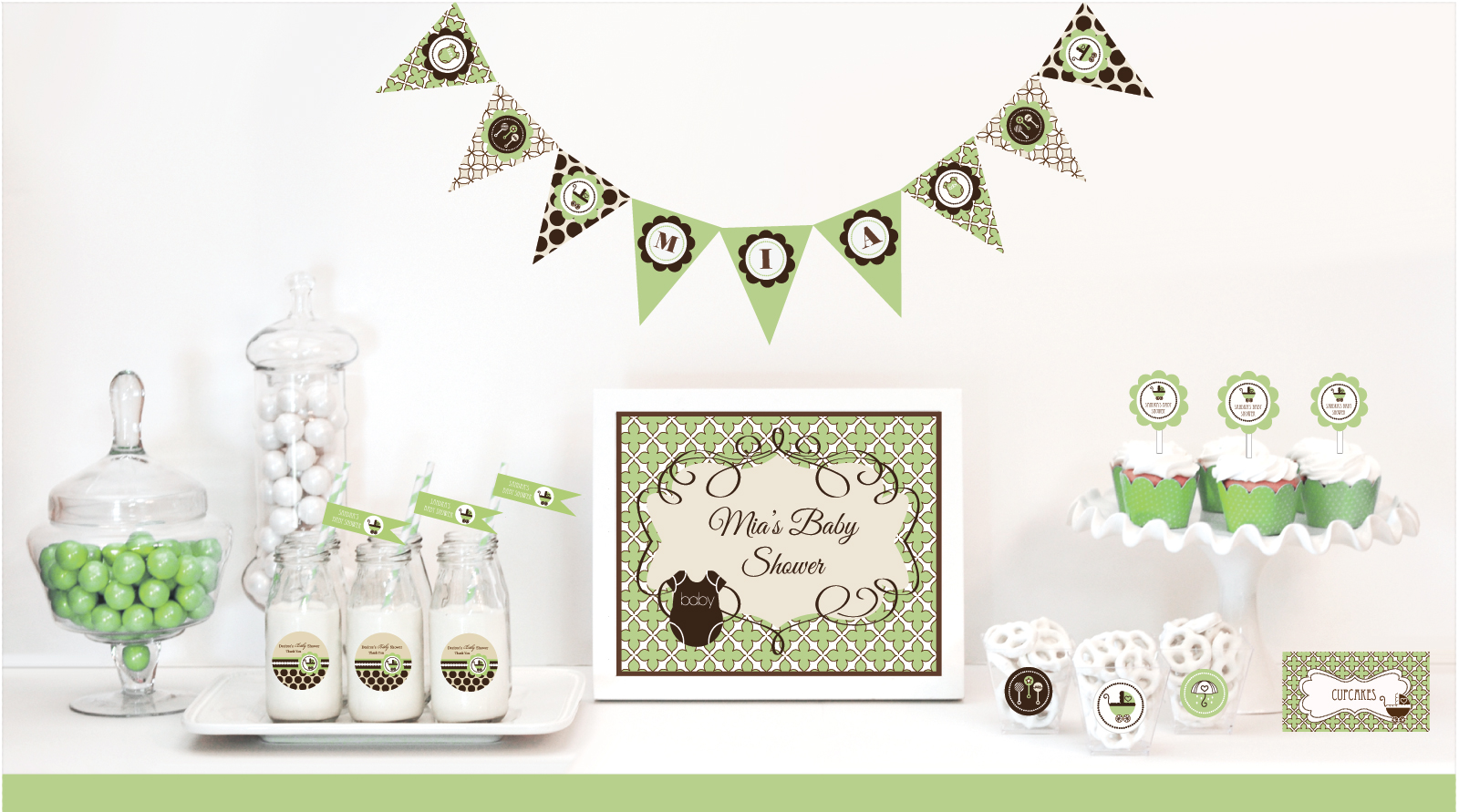 favors party favors by event blossom green baby shower modparty
