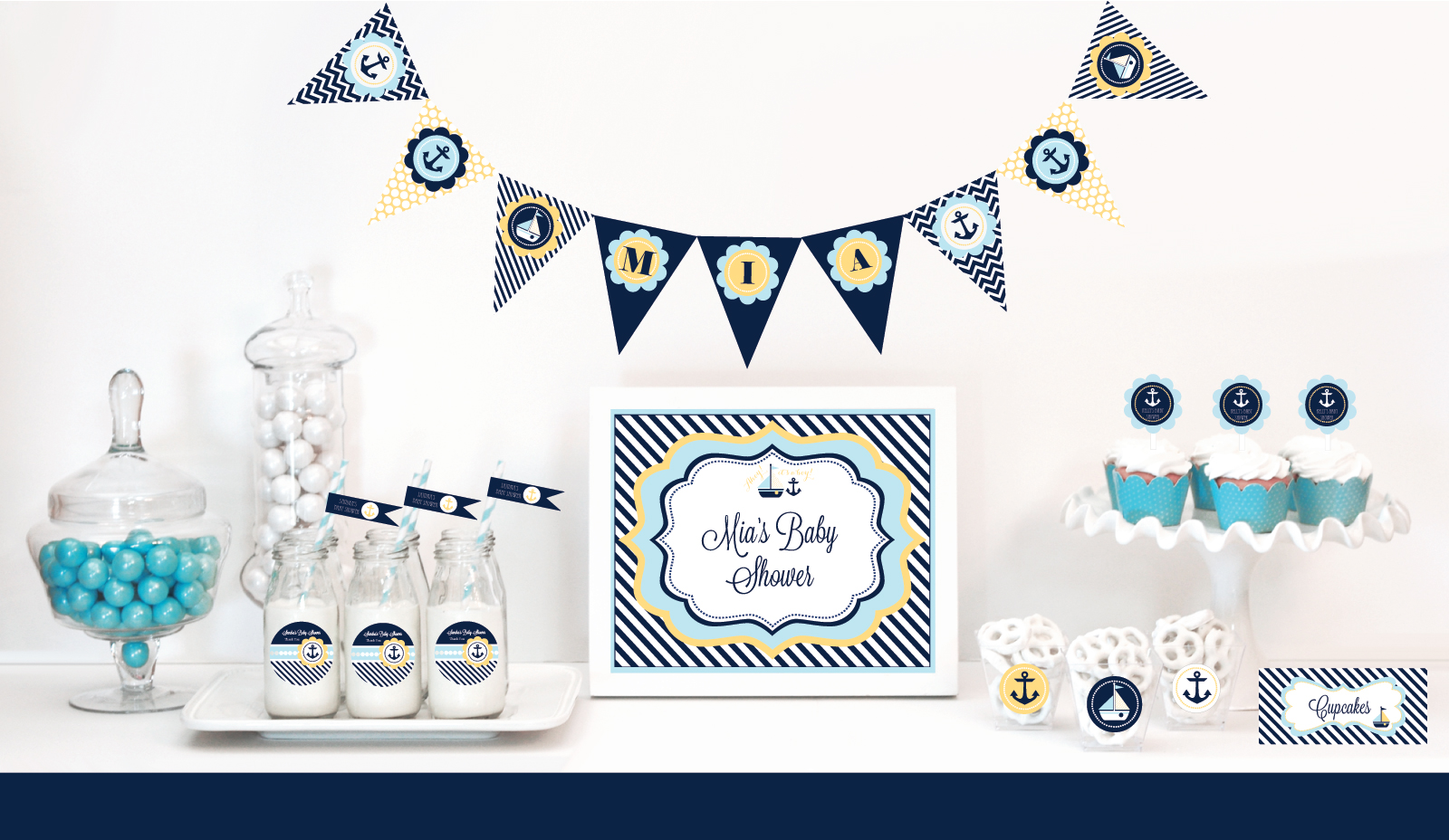 Wholesale Wedding Favors, Party Favors, by Event Blossom: Nautical Baby Shower Favors