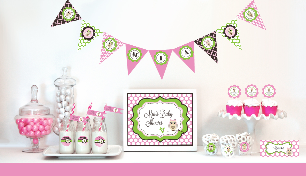 Pink Owl Party Favors from hotref.com